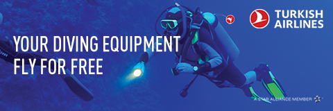 Diving gear flies free with Turkish Airlines